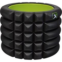 """At 5"""" tall by 5.5"""" diameter, The GRID™ Mini is the most travel friendly foam roller on the market. Featuring Matrix Technology and Distrodensity™ Zones, it provides a unique targeted massage to increase circulation and help maintain flexibility. This compact tool is perfect for traveling. It attaches to any gym bag, backpack, or can easily fit inside your suitcase."""