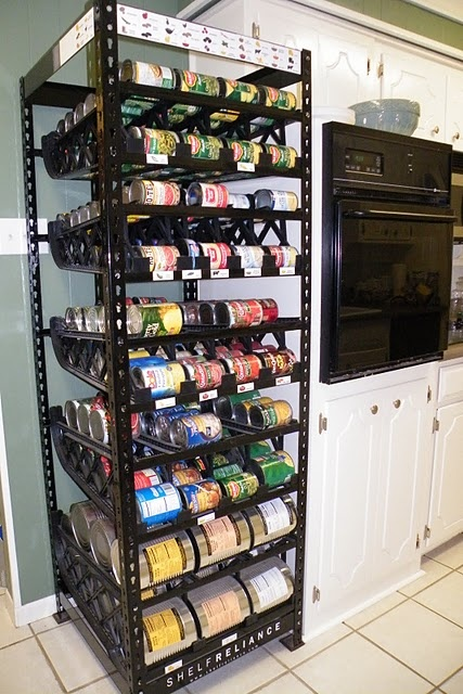 Food Storage Rack Holds Around 400 Cans And Rotates Food