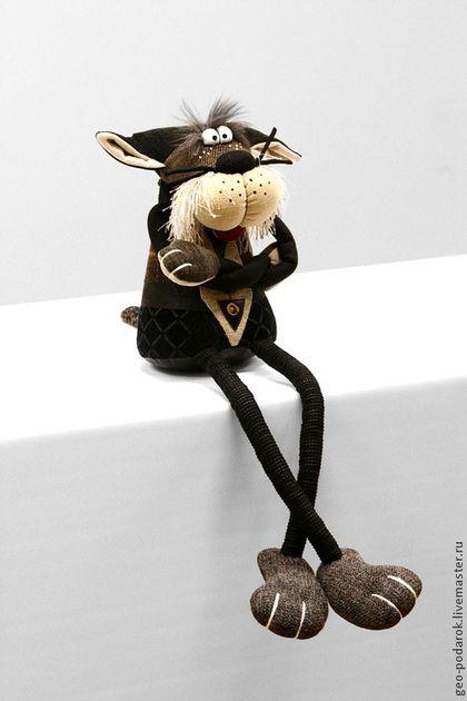 Игрушки животные, ручной работы. Ярмарка Мастеров - ручная работа. Купить Интерьерная мягкая игрушка Котик с длинными ногами.. Handmade.