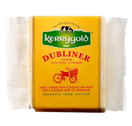 Dubliner cheese, grassfed.  A favorite.  Get a great price on a big chunk at Costco!