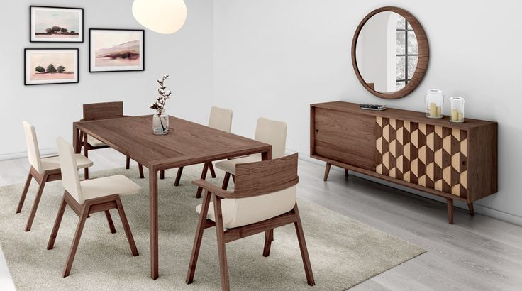 #Luna mirror #scarpaW sideboard #pensil chairs and #raia table for a special projec from wewood!