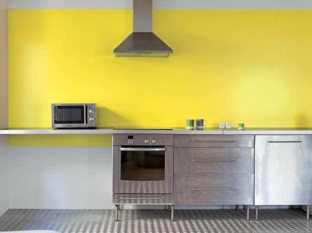 Peinture cuisine tollens d coration int rieure pinterest peinture cuisine jaune vif et for Peinture cuisine tollens
