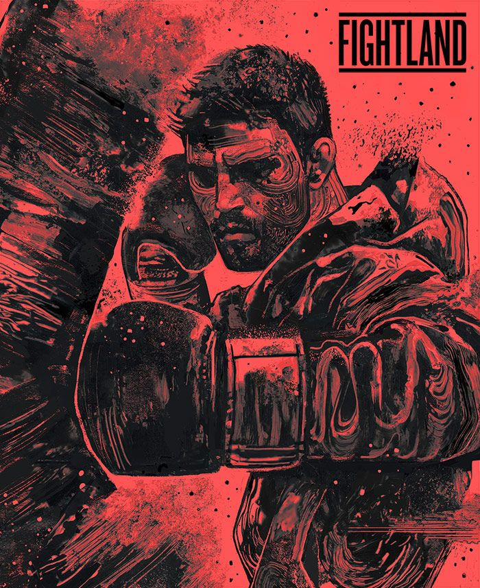 """Natural Born Killer"" Carlos Condit artwork by Gian Galang : if you love #MMA, you'll love the #UFC & #MixedMartialArts inspired fashion at CageCult: http://cagecult.com/mma"