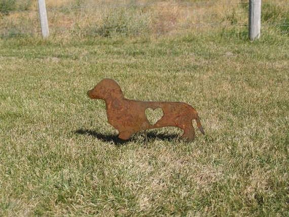 Dachshund Metal Yard Art Garden Stake By Metalcrafts On