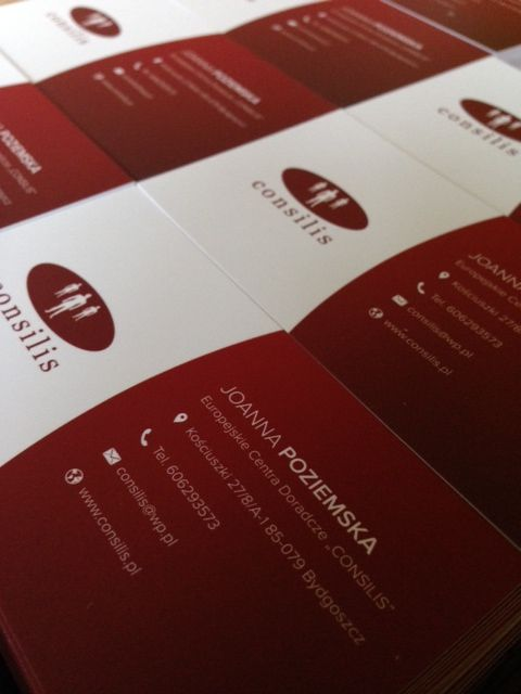 wizytówki dla Consilis (projekt, druk M4Bizz)