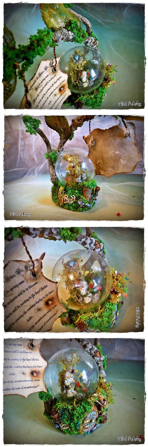 "Do You remember the Shire/ Miniature LOTR/ The Lord of The Rings/the Hobbit/ "" Bag End"" LOTR inspired, nostalgic quote Diorama. by WiLd PeArLy~*"
