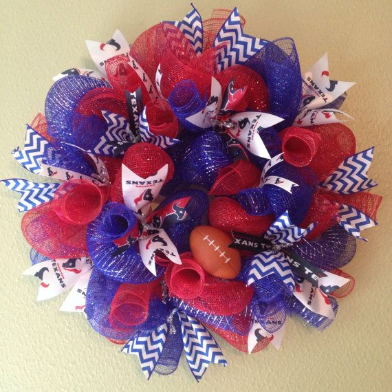 Houston Texans Wreath  Houston Texans  Red by CreativeCreationHome, $45.00
