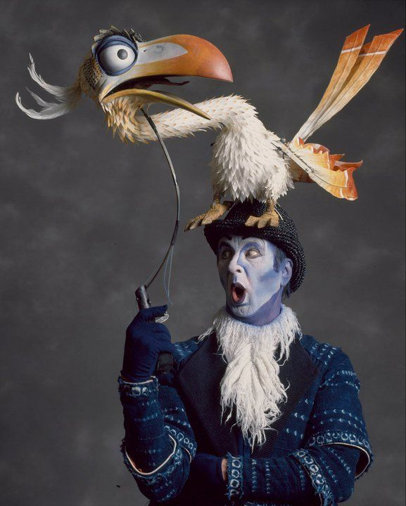 Zazu from The Lion King on Broadway- I absolutely love how they still act through facial expressions! It's so easy just to let the puppet be the center of attention.