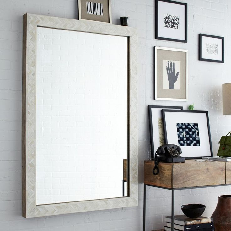 Parsons Large Wall Mirror Bone Inlay 135h 91w Home