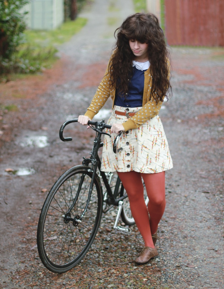 Who wants to go for a bike ride? We could go anywhere in these lovely layers!