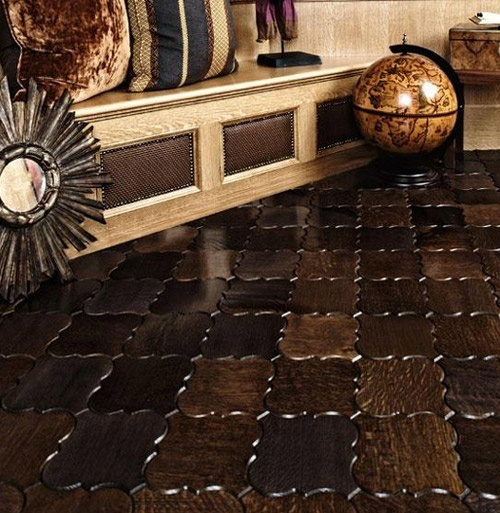 Interlocking wood tile...way better than the parquet you typically see.  I think it might be hard to get cat hair out of the grooves though... nancinebikes: Ideas, Floors, Wood Tiles, House, Flooring, Woods, Design, Wood Floor Tiles