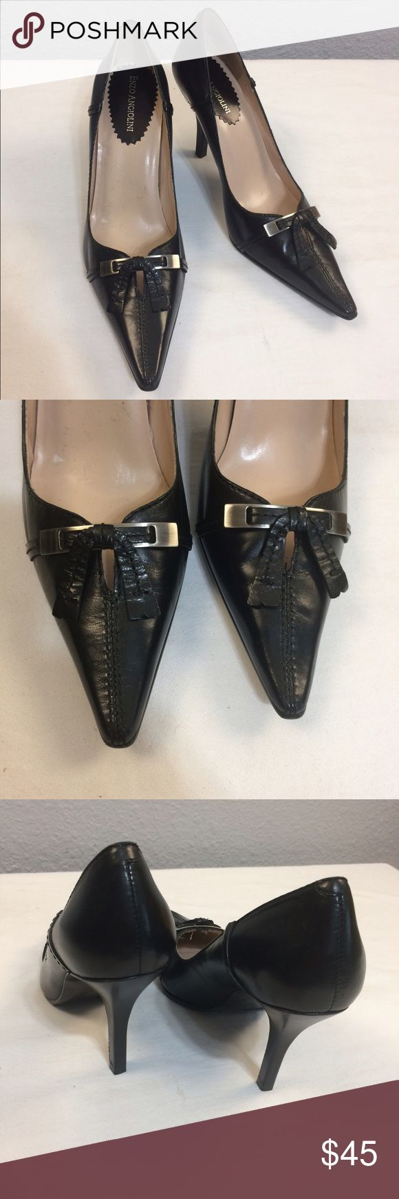 SALE🎉Enzo Angiolini leather pointy toe pumps NWOT Gorgeous black pumps with a 3.5 inch heel. Perfect condition. No flaws or defects. Great for work or a night on the town. Classic wardrobe staple. Enzo Angiolini Shoes Heels
