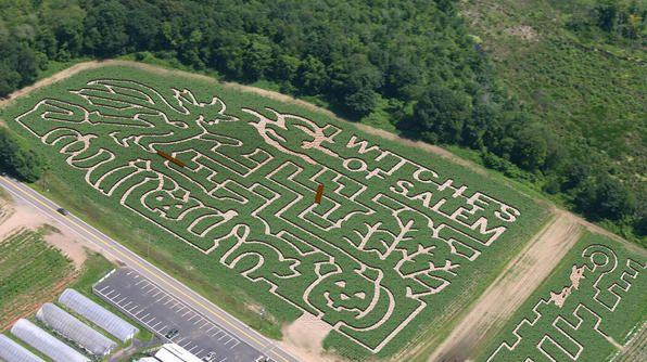 Connors Farm's haunted corn maze in Danvers, MA