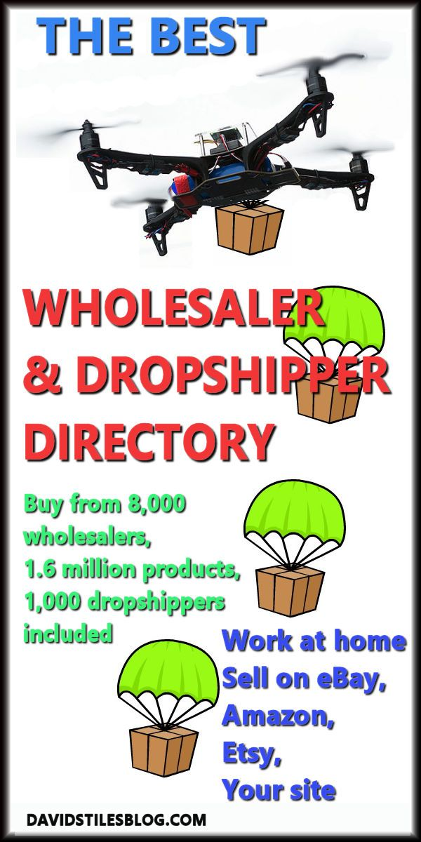THE BEST WHOLESALE SUPPLIER DROPSHIPPER DIRECTORY. From: DavidStilesBlog.com