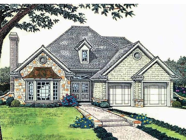 eplans french country house plan exposed beam ceiling 1821 square feet and 3