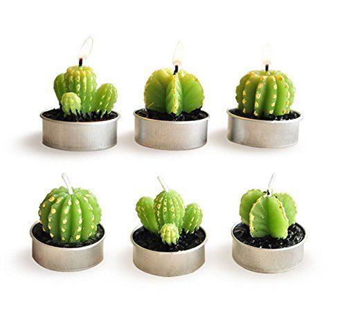 Cactus Candles, Set of 6 Tealight Candles Cactus Decorati... https://www.amazon.com/dp/B071KG2FPN/ref=cm_sw_r_pi_dp_x_aHeDzbF8ZVT9Y