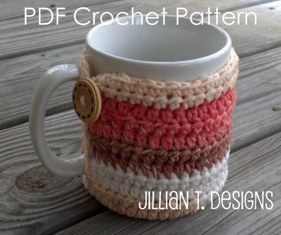 Rocky Ridge Mug Cozy PDF Crochet Pattern Sell by jilliantdesigns, $3.25