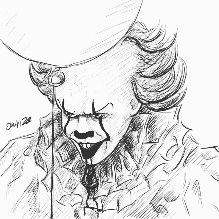 Pennywise the dancing clown IG | @_omriza_ #it #pennywise #clown #art