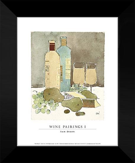 Sam Dixon Framed Art Print 15x18 Wine Pairings I Dining Room