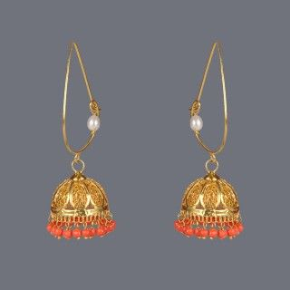 Featuring this Coral Jhumka earring by Designer Deepa Sethi on Zarilane.com. Go, Grab yourself one Now!