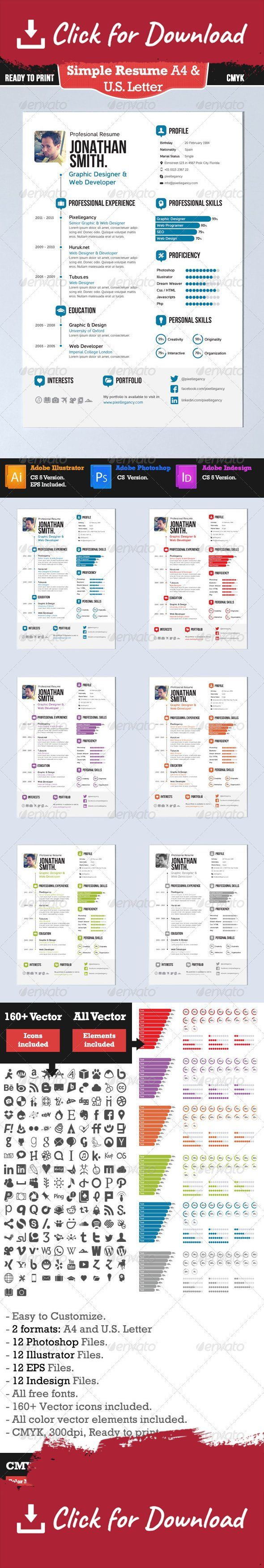 45 best resumes images on pinterest fonts resume ideas and