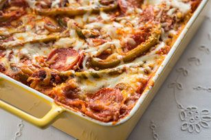 Love pizza and lasagna? Then, you must try our recipe for Pepperoni Pizza Lasagna. It's guaranteed to disappear quickly!