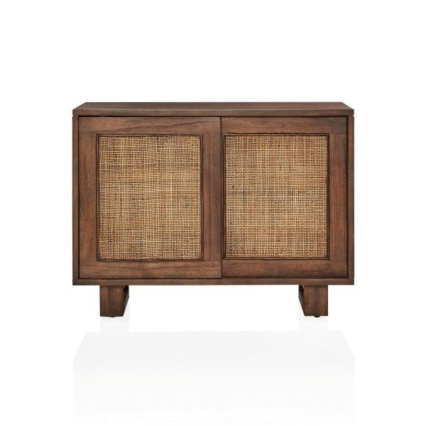 A deco inspired solid timber bedside table with a coastal outlook.