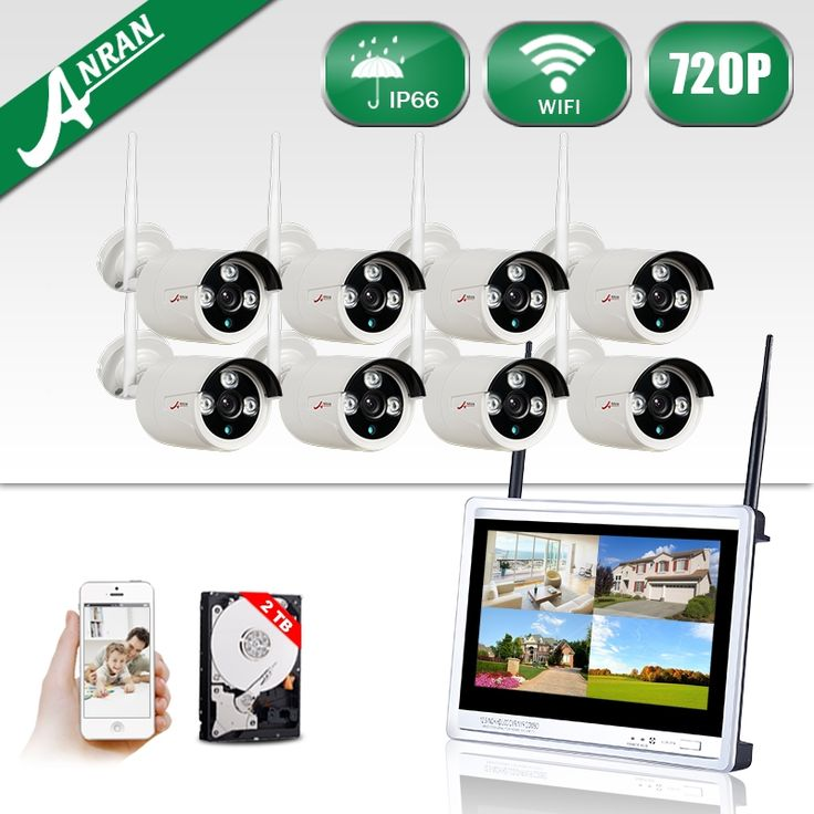 384.58$  Watch here - http://aihpw.worlditems.win/all/product.php?id=32793926387 - 8CH 12Inch'LCD Wireless NVR Plug And Play CCTV System+2TBHDD&720P HD Outdoor+Indoor Weatherproof Night-Vision IR Security Camera