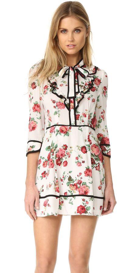 re:named Floral Neck Tie Dress