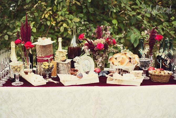 Свадьба цвета бургунди