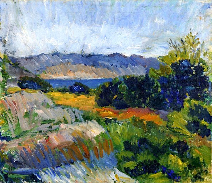 Inge Schiöler (Swedish, 1908 - 1971) Landscape, Bohuslän 1932