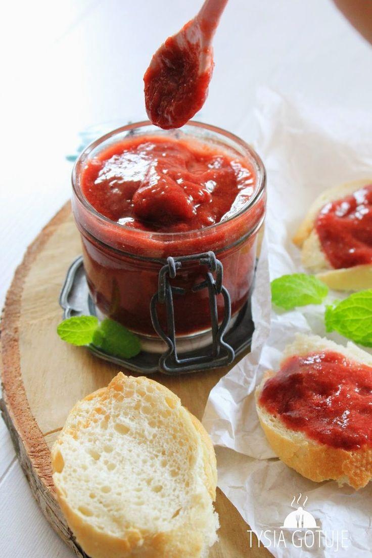 Dżem truskawkowo-rabarbarowy