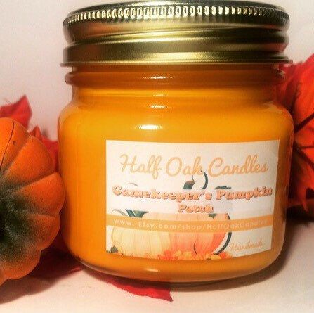 Gamekeeper's Pumpkin Patch Novels Candle Book Inspired Scented Candle Soy Blend Book Gift Library Fragrance by HalfOakCandles on Etsy https://www.etsy.com/listing/253329203/gamekeepers-pumpkin-patch-novels-candle
