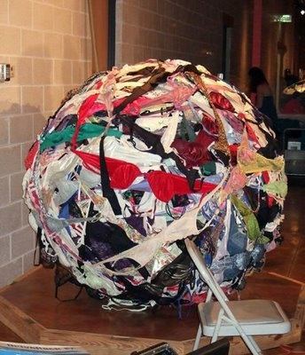 Giant ball of bras. Nuff said.