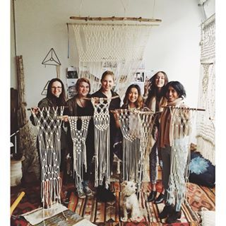 Come Learn with Modern Macrame! Leading macrame revival through learning workshops and products for your inspired home! Buy DIY supplies & rope, wall hangings, plant hangers and custom pieces!