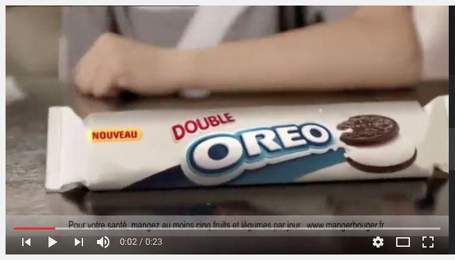 La nouveau Double Oreo pub- Great French commercial for authentic listening!