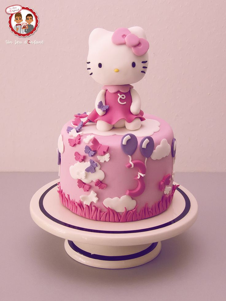 Cake Designs Of Hello Kitty : Best 25+ Kitty cake ideas on Pinterest Kitten cake ...