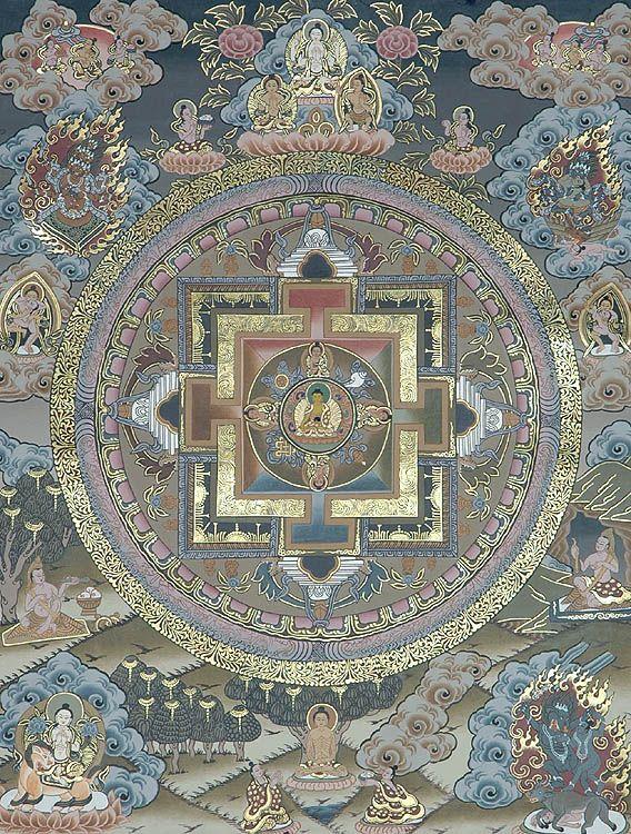 Mandala of Buddha. Awesome.