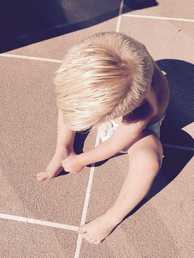 Toddler undercut blending.