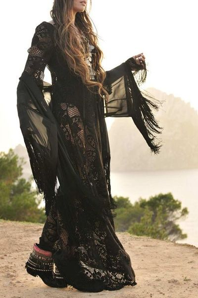 Black See-Through Lace Long Sleeve Dress ... $16 at the very least, it'd make a great Elvira costume!