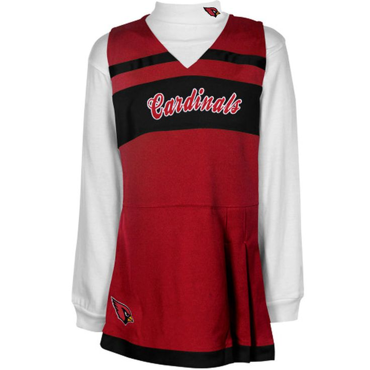 Arizona Cardinals Infant Jumper Long Sleeve Turtleneck Cheer Set - Cardinal/Black