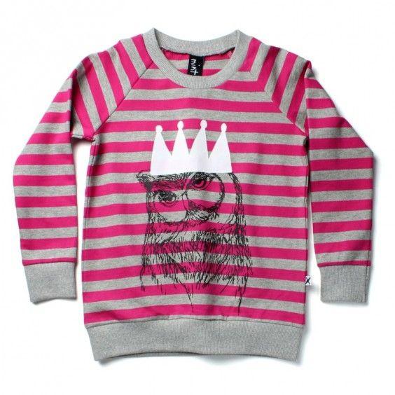 Minti Owl Queen Crew - Pink