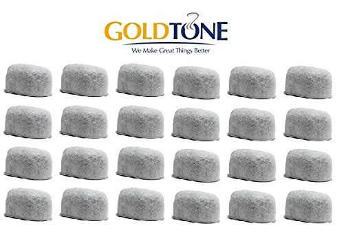 [24 Pack] GoldTone Activated Carbon Water Filters - Charcoal Water Filters for Keurig Coffee Makers and Brewers [24 Pack]
