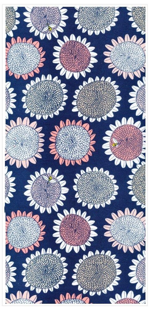 "Pink Sunflower Poplin 45"" Print"
