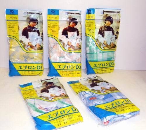 disposable plastic aprons with detached plastic sleeves Case of 72