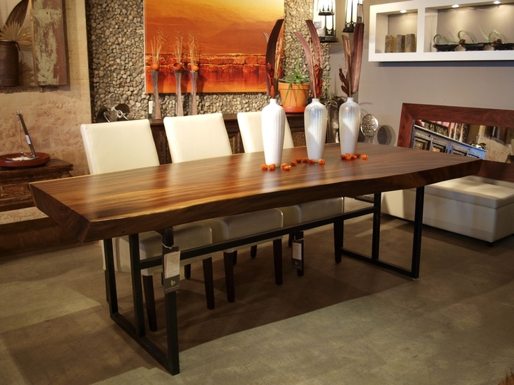 suar wood dining table dining room pinterest. Black Bedroom Furniture Sets. Home Design Ideas