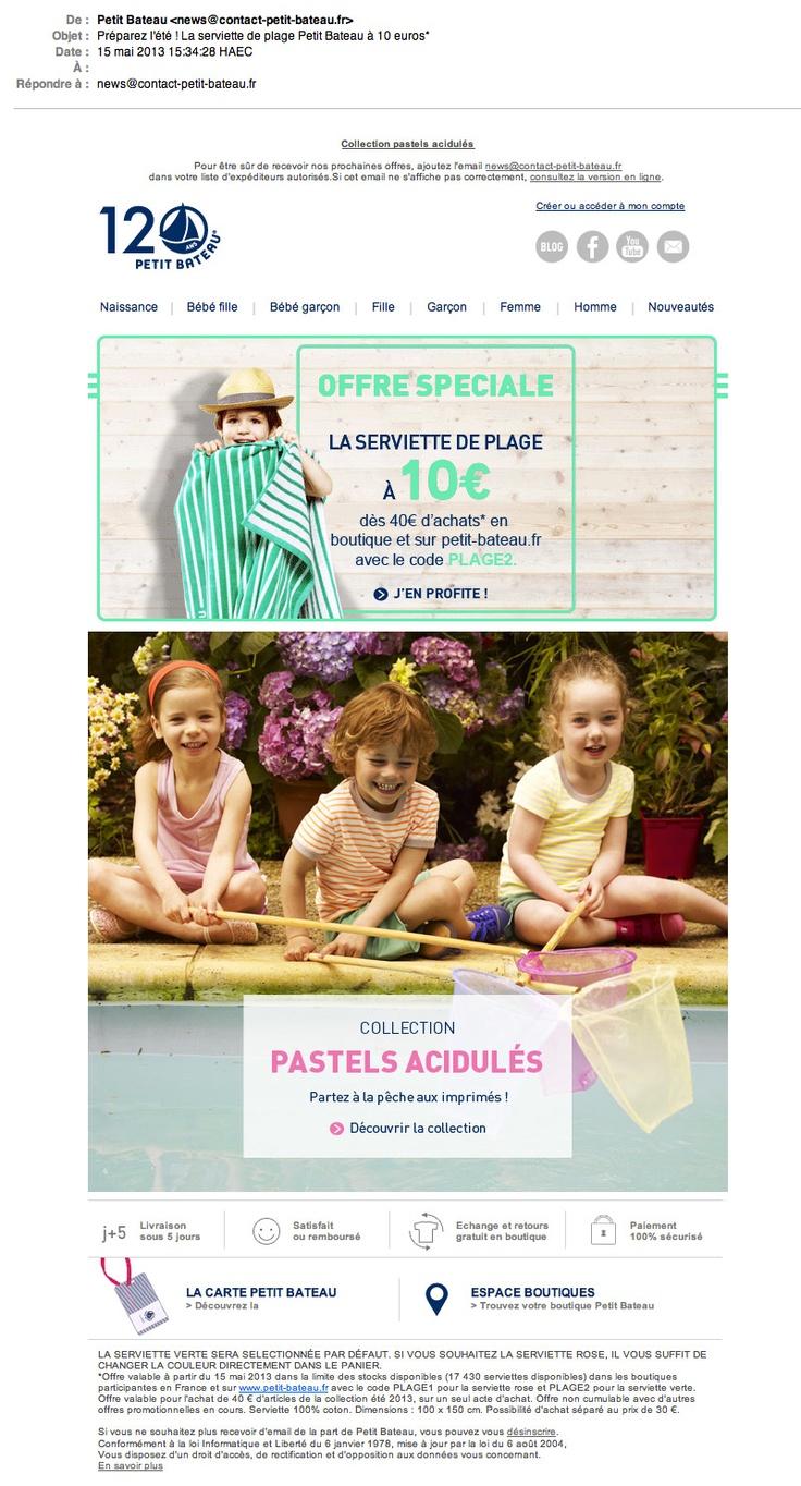 Emailing Collection Pastels acidulés © Petit Bateau
