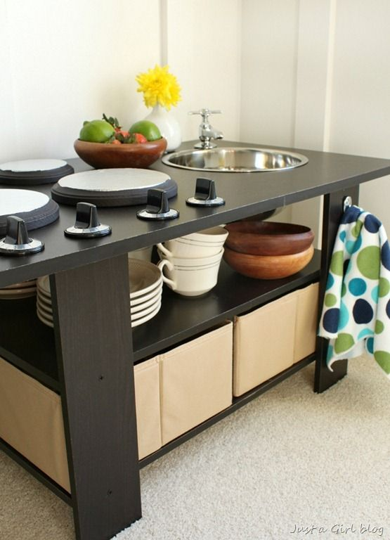 124 Best Images About Diy Play Kitchens And Work Benches On Pinterest Diy Play Kitchen Microwave Stand And Old Furniture