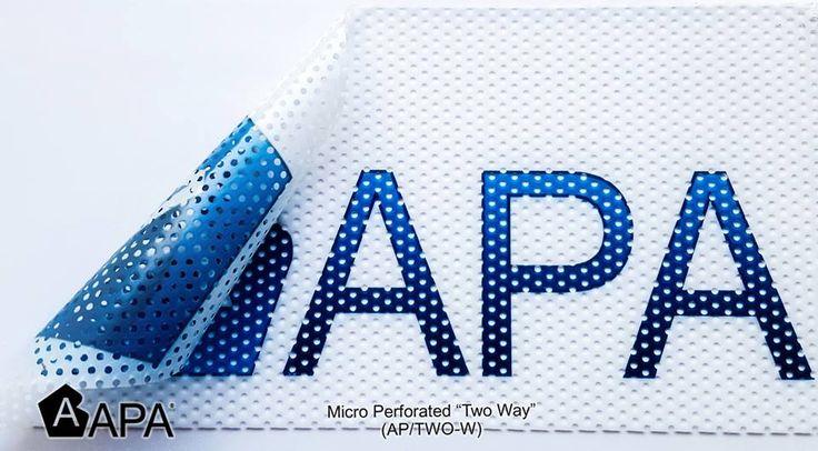"""Micro perforated """"Two Way"""" (AP/TWO-W): disegnato per decorazione di superfici vetrate di edifici e veicoli. Grazie alla translucenza del film, la stampa risulta visibile da entrambe i lati. Micro perforated """"Two Way"""" (AP/TWO-W): designed for decoration of glass surfaces, such as shop windows and vehicles. The vinyl translucency allows the graphic to be seen on either side. #selfadhesive #apastickers #apafilms #apafolie #apavinyl #interiordesign #twowfilm #microperforatedfilm #digitalprint…"""