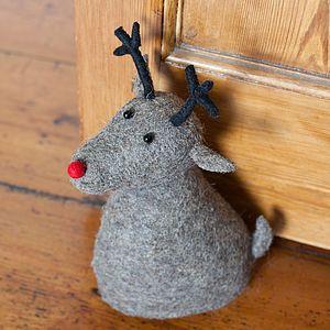 Felt Reindeer Doorstop - door stops £40